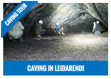 Caving in lava tubes jeep tour