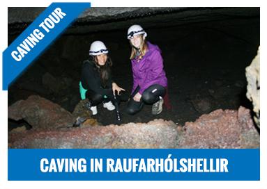 Caving in Raufarhólshellir