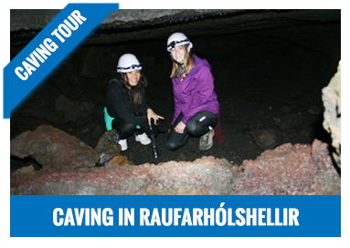 Caving in Raufarholshellir