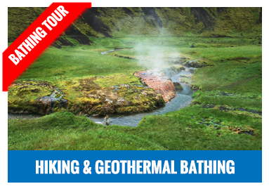 Geothermal bathing jeep tour