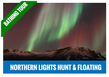 Northern Lights and floating